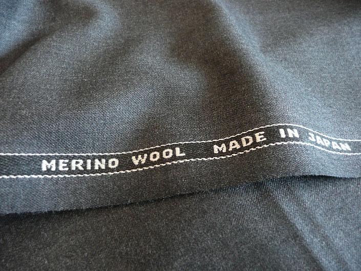 グレイ ツイル(綾織り) スーパー100's 最高級メリノウール100%