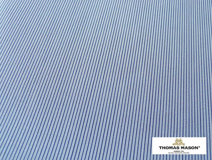 100番手 ブルーの峡幅ストライプ