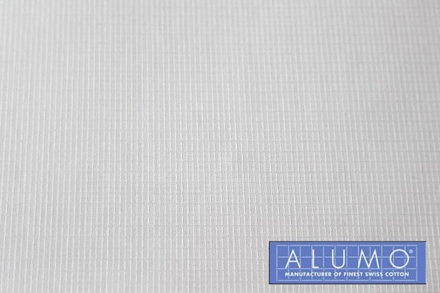 ホワイト グラフチェック(織り柄)