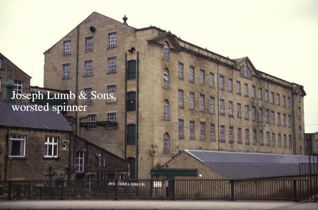 英国はハダーズフィールドにあるジョセフ・ラム の紡績工場。